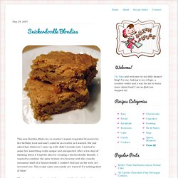 Dozen Flours: Buckle's Blissful Snickerdoodle Blondies