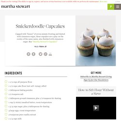 Snickerdoodle Cupcakes Recipe | Cooking | How To | Martha Stewart Recipes