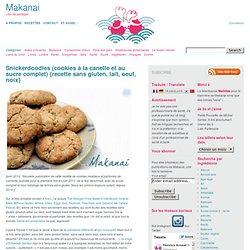 Snickerdoodles (cookies à la canelle et au sucre complet) {recette sans gluten, lait, oeuf, noix}