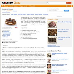 Snickers Fudge Recipe - How to Make Snickers Fudge - Candy Bar Fudge Recipe