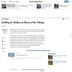 Sniffing for Dollars at Home of the Vikings