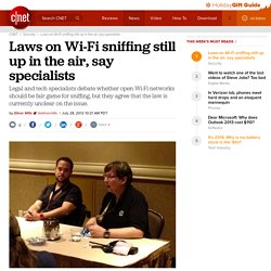 Laws on Wi-Fi sniffing still up in the air, say specialists | Security & Privacy