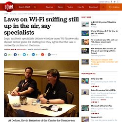 Laws on Wi-Fi sniffing still up in the air, say specialists