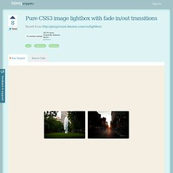 HTML5 snippet : Pure CSS3 image lightbox with fade in/out transitions