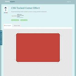 CSS Tucked Corner Effect