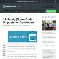 14 Handy jQuery Code Snippets for Developers