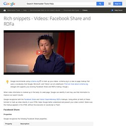 Rich snippets - Videos: Facebook Share and RDFa - Webmaster Tools Help