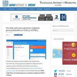 Un sitio web para generar snippets personalizados en CSS3 y HTML5