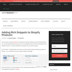 Adding Rich Snippets to Shopify Products - Andrew Bleakley
