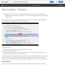 Rich snippets - Products - Webmaster Tools Help