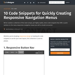 10 Code Snippets for Creating Responsive Navigation Menus