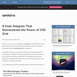 8 Snippets That Show the Power of CSS Grid