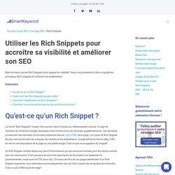 Rich Snippets : Comment utiliser les données structurées ?