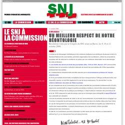 SNJ : carte 2009