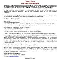 SNJ-CGT - droits d'auteur