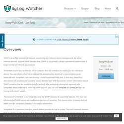SnmpWalk (Cmd-Line Tool) – Syslog Watcher Website