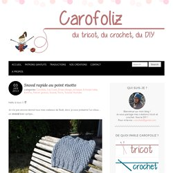 Snood au tricot point risotto