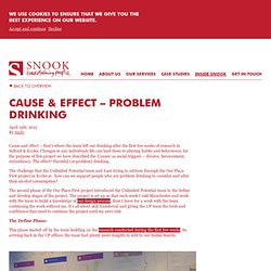 Snook: Cause & Effect - Problem Drinking - Snook: We are the how