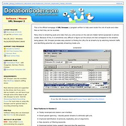 URL Snooper - Mouser - Software