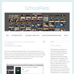 Snooping & Spying On Student iPads via DiskAid