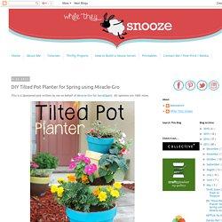 DIY Tilted Pot Planter