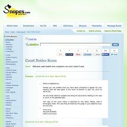 Court Notice Scam