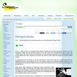 Poltergeist Deaths