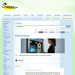 reverse atm pin snopes