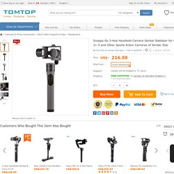 Only £177.6, Snoppa Go 3-Axis Handheld Camera Gimbal Stabilizer for GoPro - Tomtop.com
