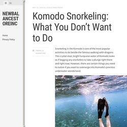 Komodo Snorkeling: What You Don't Want to Do - Newbalancestoreinc