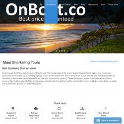 Maui Snorkeling Trips and Maui Yacht Rental