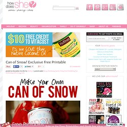 Can of Snow! Exclusive Free Printable