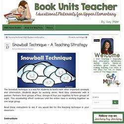 Snowball Technique - A Teaching Strategy