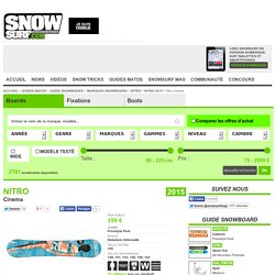 Test snowboard Nitro Cinema 2015 : snowboard Freestyle Park pour homme
