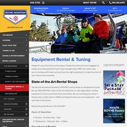 Ski and Snowboard Equipment Rental