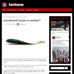 snowboard rocker o camber? – Blog BeXtreme