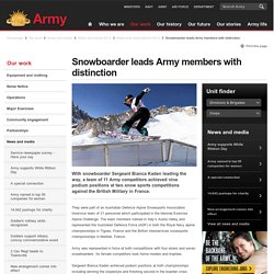 Snowboarder leads Army members with distinction