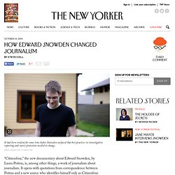 How Edward Snowden Changed Journalism