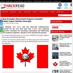 New Snowden Documents Expose Canada's Hidden Cyber Warfare Strength