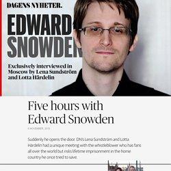 Edward Snowden interview with Dagens Nyheter - DN Fokus