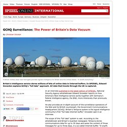 Snowden Reveals How GCHQ in Britain Soaks Up Mass Internet Data