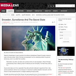 Snowden, Surveillance And The Secret State