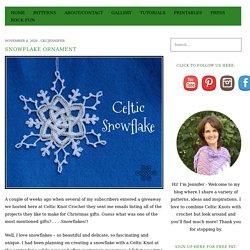 Snowflake Ornament - Celtic Knot Crochet
