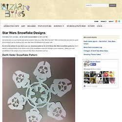 ALL Star Wars Paper Snowflake Design Patterns
