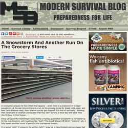 A Snowstorm And Another Run On The Grocery Stores