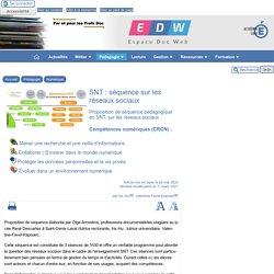 SNT : séquence sur les réseaux sociaux - [Espace Doc Web]