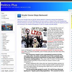 Snyder Goose Steps Backward » Politics Plus