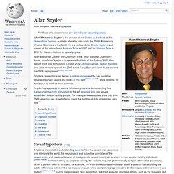Allan Snyder