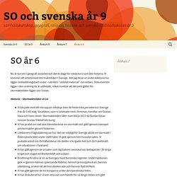 SO och svenska år 9