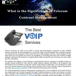 What is the Significance of Telecom Contract Management